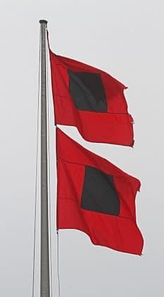Hurricane flags