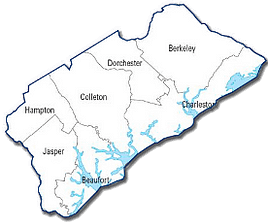 SCSRC Coastal Region Map