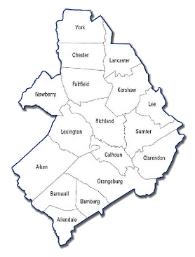 SCSRC Midlands Region Map
