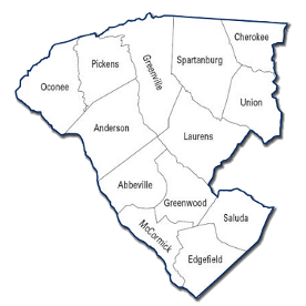 SCSRC Piedmont Dee Region Map